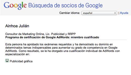 miembros certificados de google adwords
