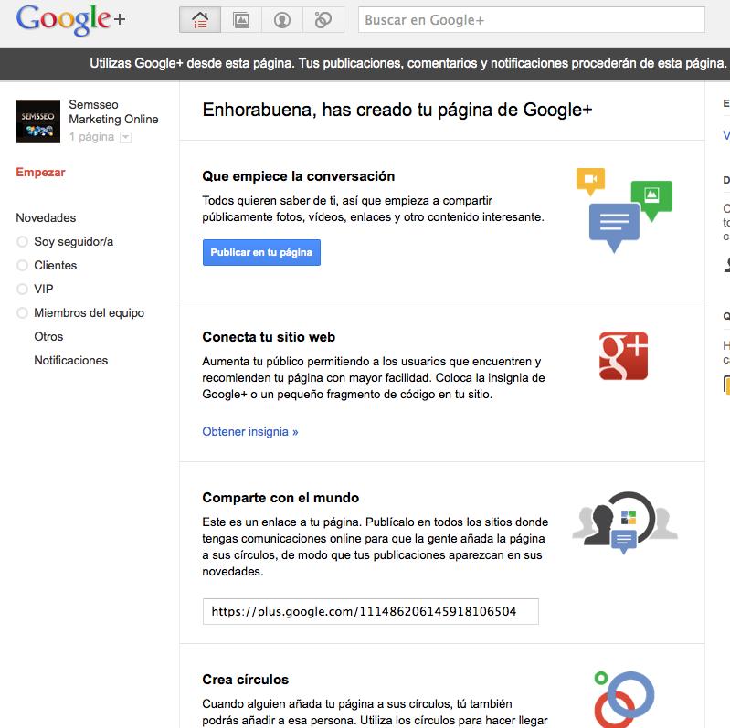 personalizar página de google +