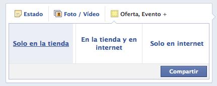 tipos de ofertas en facebook