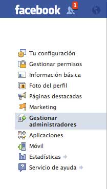 gestionar administradores de facebook