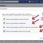 opciones para crear públicos de remarketing en facebook