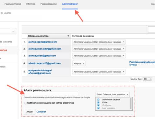 Cómo conceder accesos a tu cuenta de Google Analytics