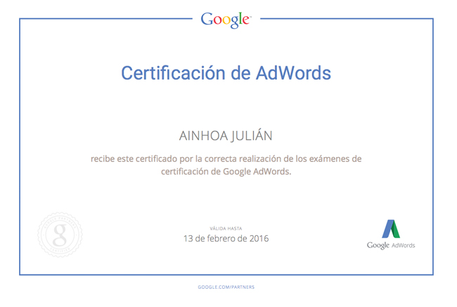 ainhoa julian partner de google