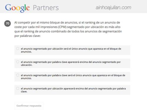 ¿Cómo son los exámenes de Google Adwords? Ejemplos reales de preguntas