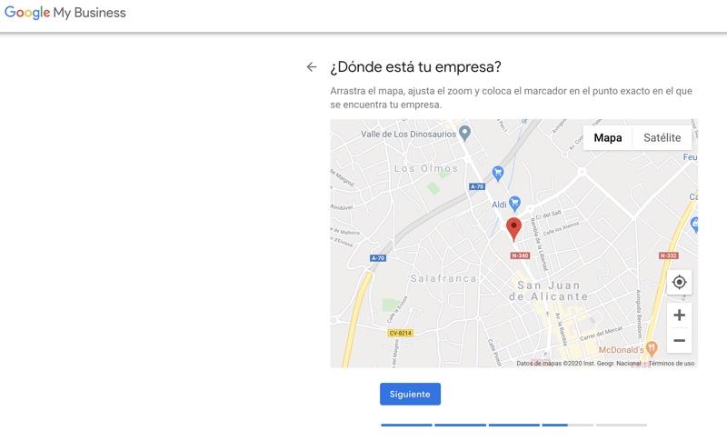 localizacion de mi empresa en el mapa