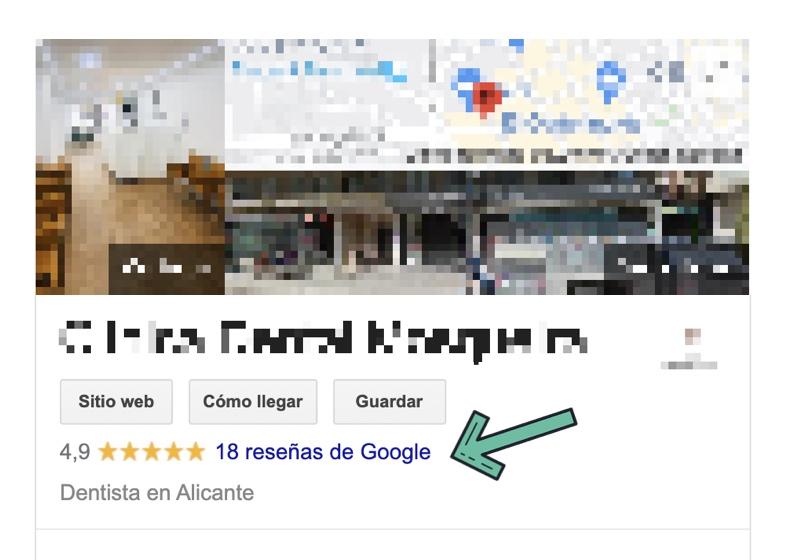 valoraciones de ficha de google
