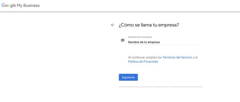 nombre de tu empresa en google